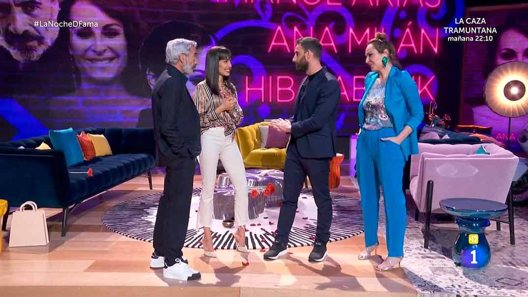 Imanol Arias, Hiba Abouk, Dani Rovira y Ana Milán - La noche D © RTVE