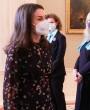 La reina Letizia rescata su vestido 'confeti' de Massimo Dutti