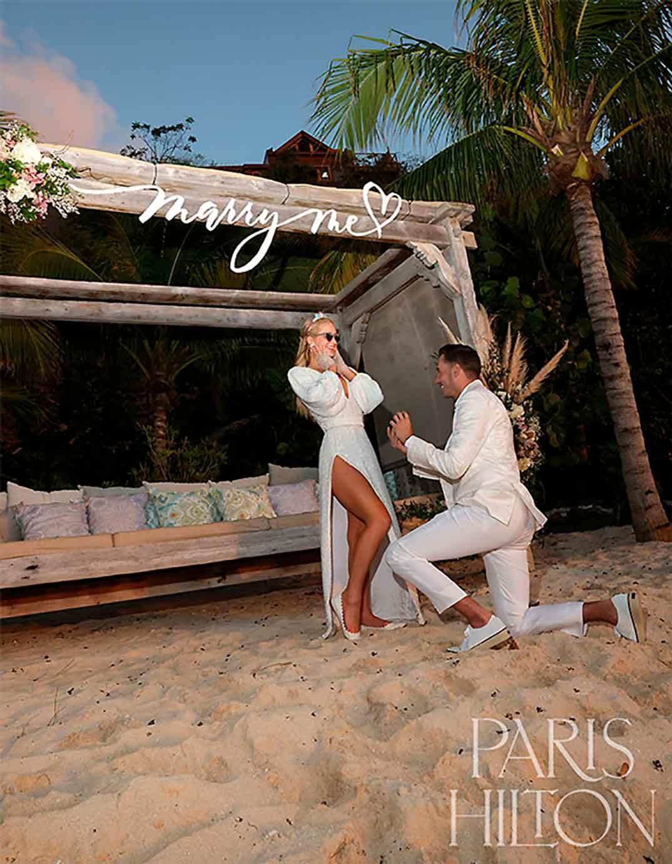 Paris Hilton y Carter Reum © Instagram