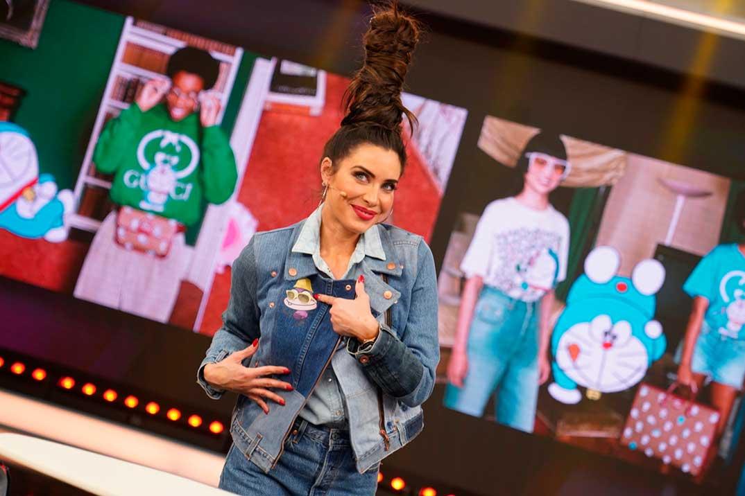 Pilar Rubio sorprende con un look a lo Marge Simpson