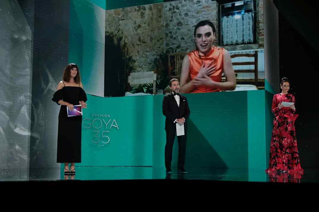 Jone Laspiur por Ane Goya Mejor Actriz Revelación ©Miguel Córdoba – Cortesía de la Academia de Cine