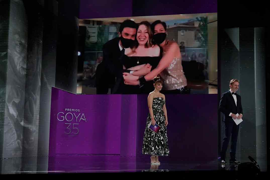 Pilar Palomero por Las niñas Ganadora Goya Mejor Guion Original ©Miguel Córdoba – Cortesía de la Academia de Cine