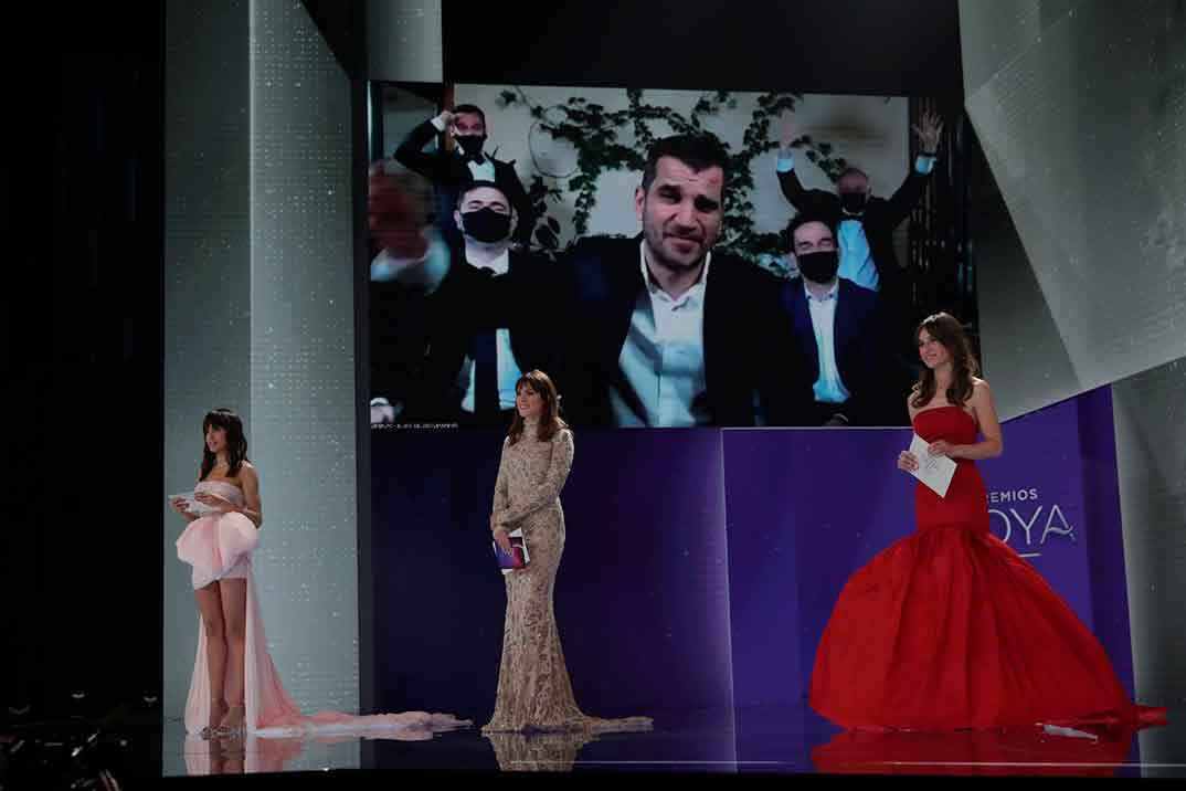 Sergio Jiménez por El año del descubrimiento Ganador Goya Mejor Montaje ©Miguel Córdoba – Cortesía de la Academia de Cine