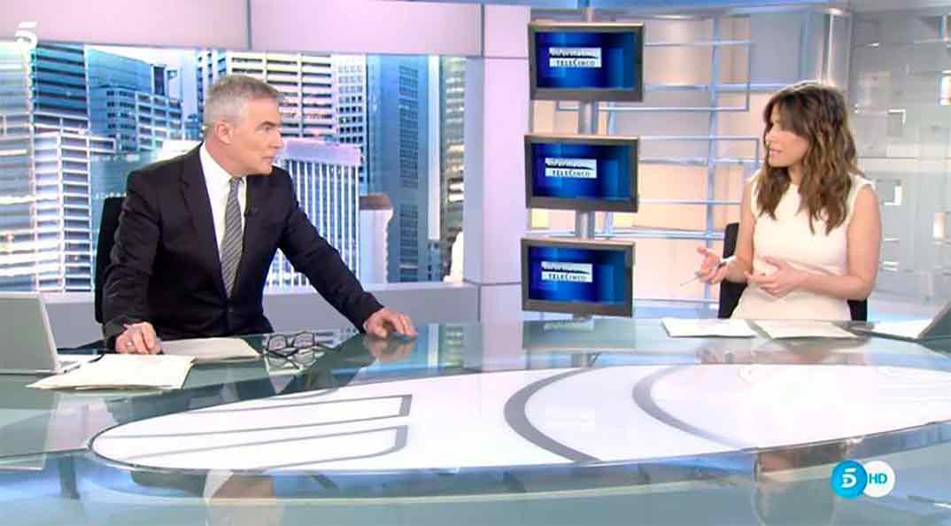 Isabel Jiménez y David Cantero © Telecinco