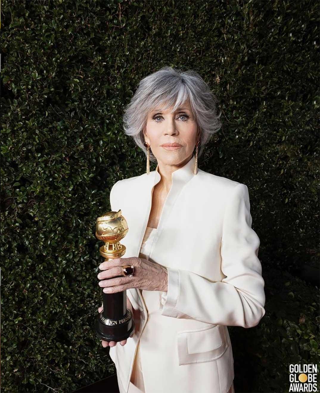 Jane Fonda - Globos de Oro 2021 © Instagram