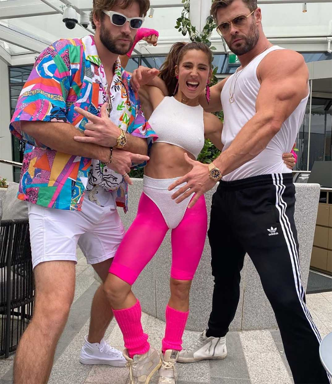 Liam Hemsworth, Elsa Pataky y Chris Hesworth © Instagram