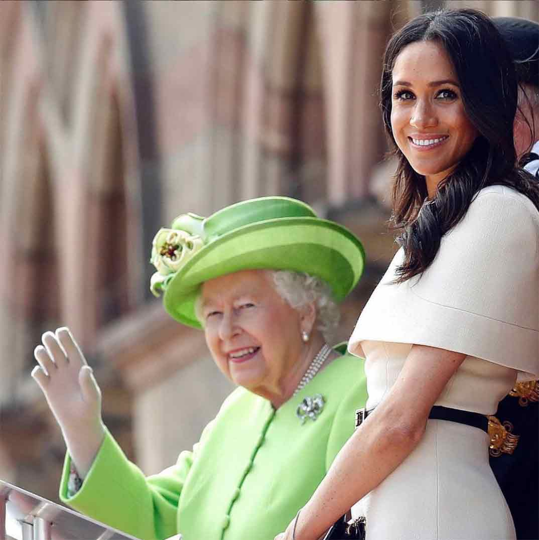 Reina Isabel II y Meghan Markle © theroyalfamily/Instagram