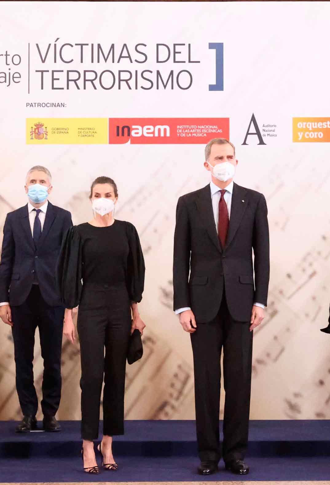"""Reyes Felipe y Letizia - Concierto """"In Memoriam"""" en homenaje a las víctimas del terrorismo © Casa S.M. El Rey"""