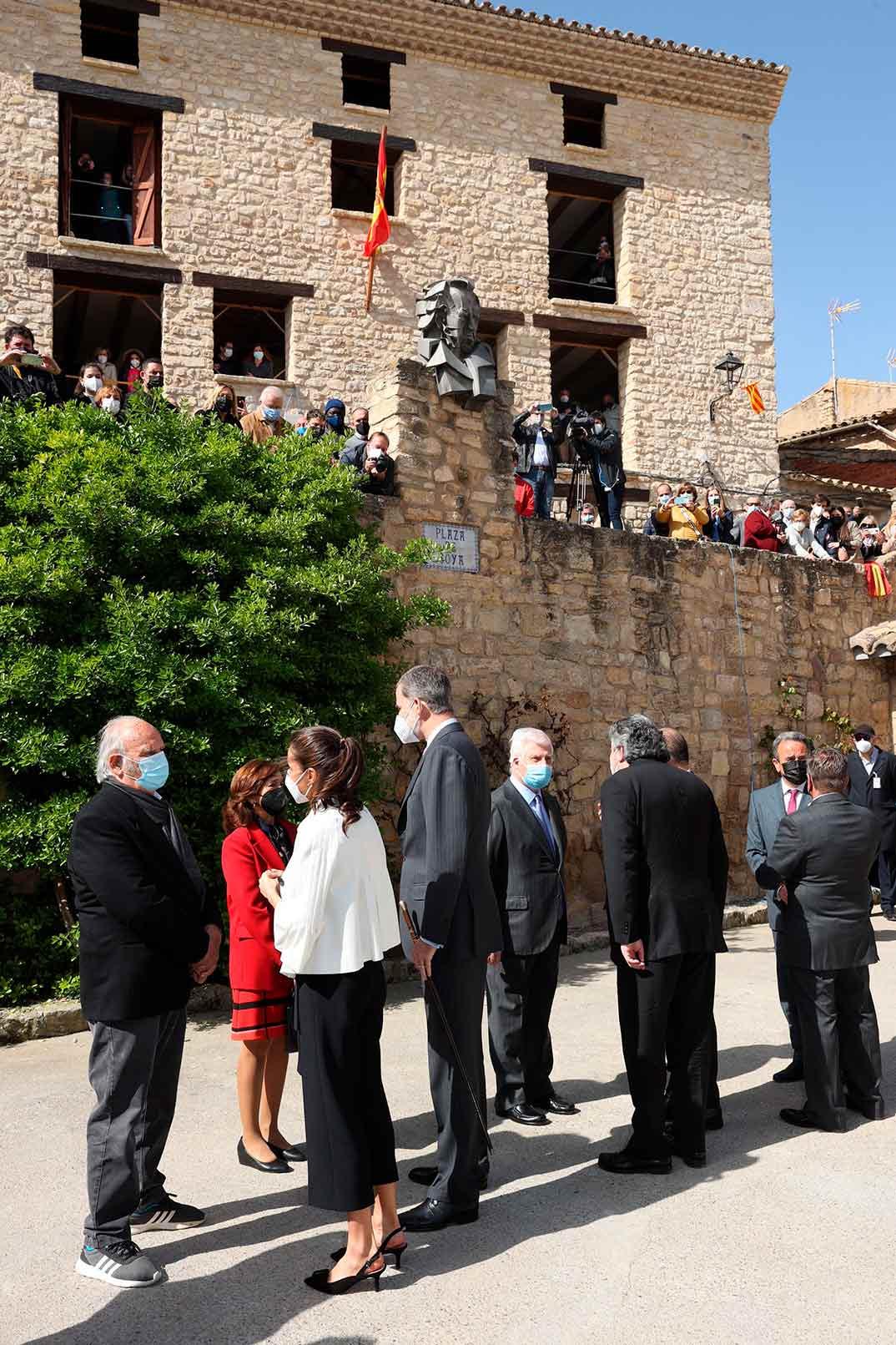 Reyes Felipe y Letizia en Fuendetodos (Zaragoza)© Casa S.M. El Rey