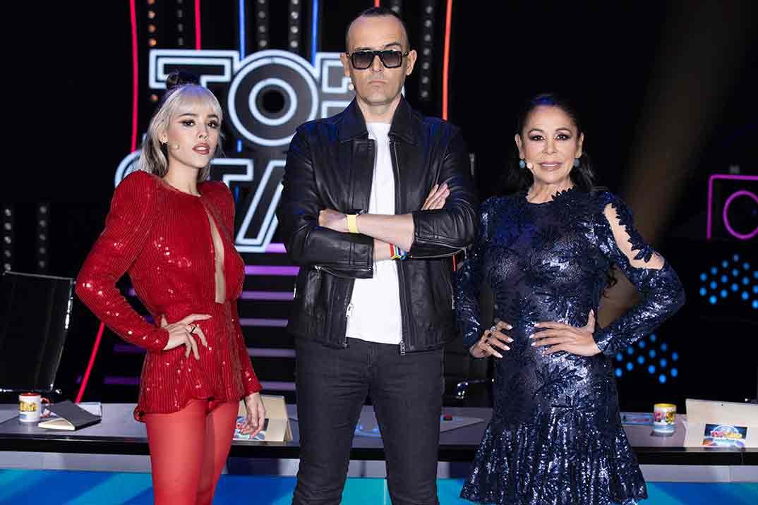 Danna Paola, Isabel Pantoja y Risto Mejide - 'Top Star. ¿Cuánto vale tu voz?' © Mediaset