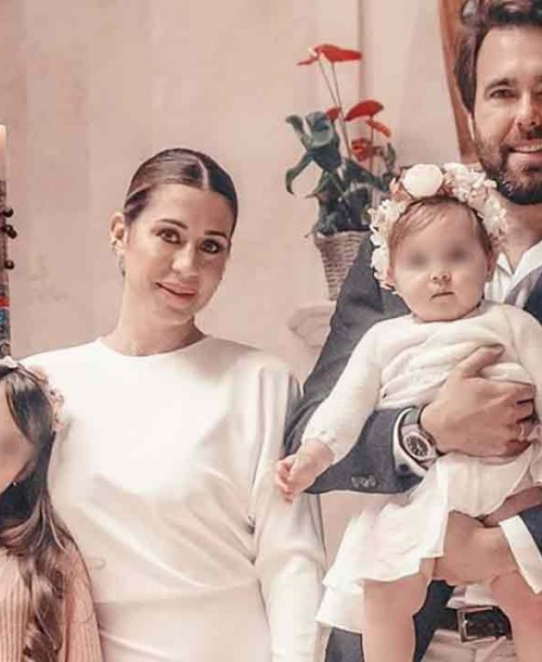 Elena Tablada y Javier Ungría bautizan a su hija Camila