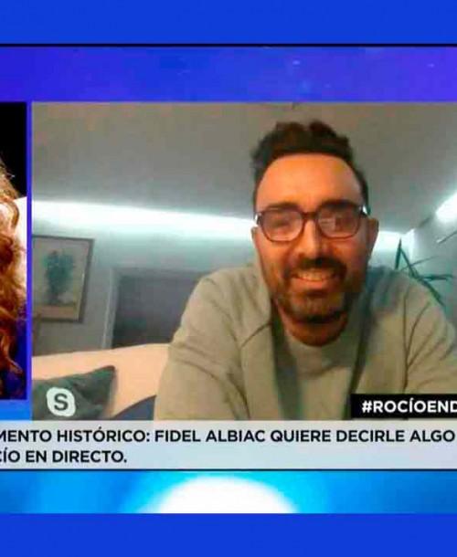 Fidel Albiac aparece por primera vez en televisión para apoyar a Rocío Carrasco