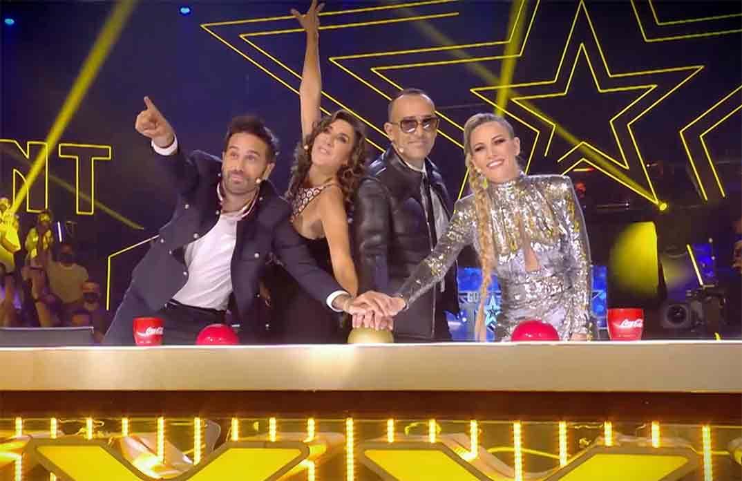 Dani Martínez, Paz Padilla, Risto Mejide y Edurne - Got Talent España © Telecinco