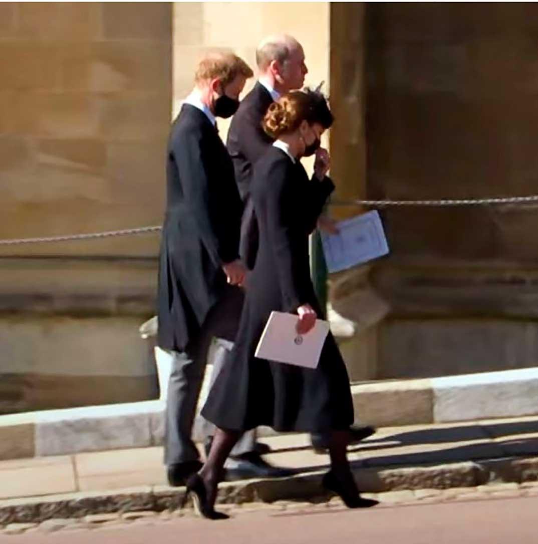 Kate Middleton, Príncipe Harry y Príncipe Guillermo © BBC