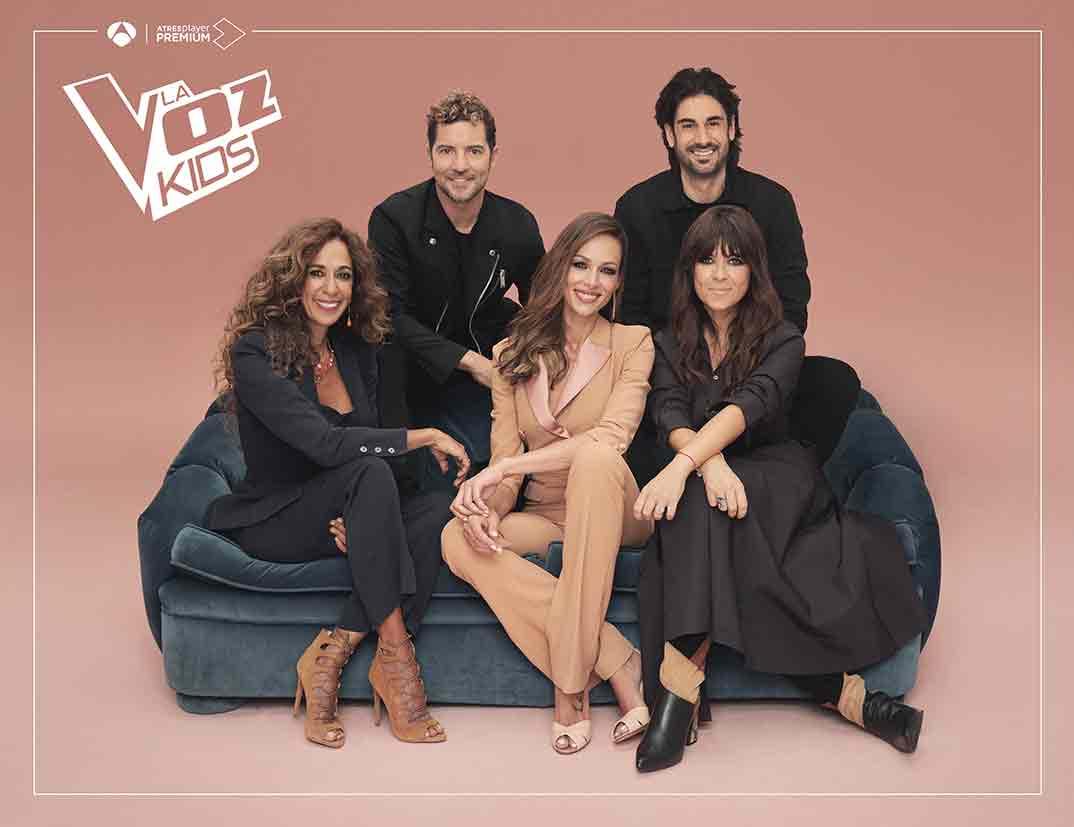 David Bisbal, Rosario Flores, Vanesa Martín y Melendi- La Voz Kids © Antena 3