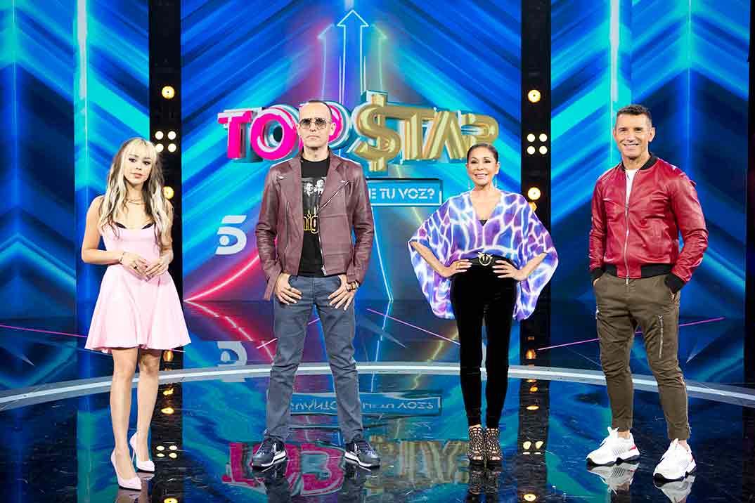 Danna Paola, Risto Mejide, Isabel Pantoja y Jesús Vázquez - Top Star © Mediaset