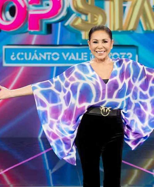 Isabel Pantoja sorprende con su nueva imagen en la presentación de 'Top Star'