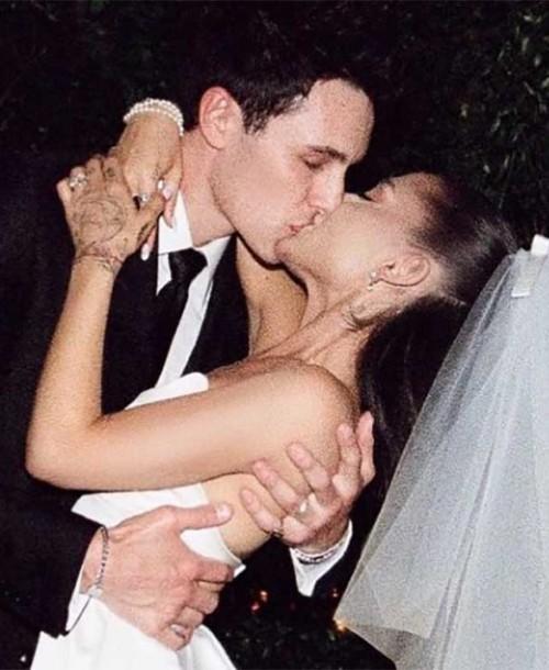 Así fue el vestido de novia Ariana Grande