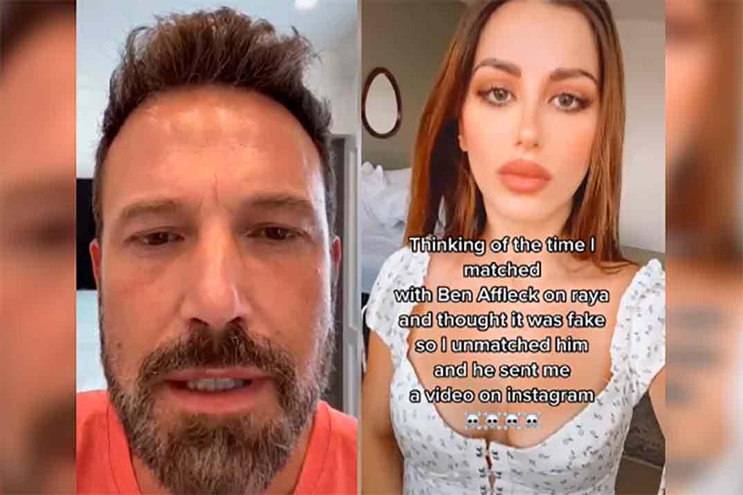 Ben Affleck envía un vídeo a una chica que no quiso hablarle por una 'app' de citas