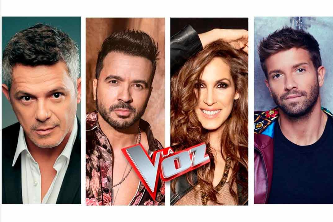 Alejandro Sanz, Luis Fonsi, Malú y Pablo Alborán - La Voz © Antena 3