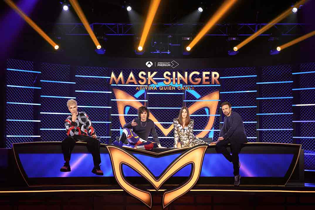 Javier Calvo, Javier Ambrossi, Paz Vega y José Mota - Mask Singer © Antena 3