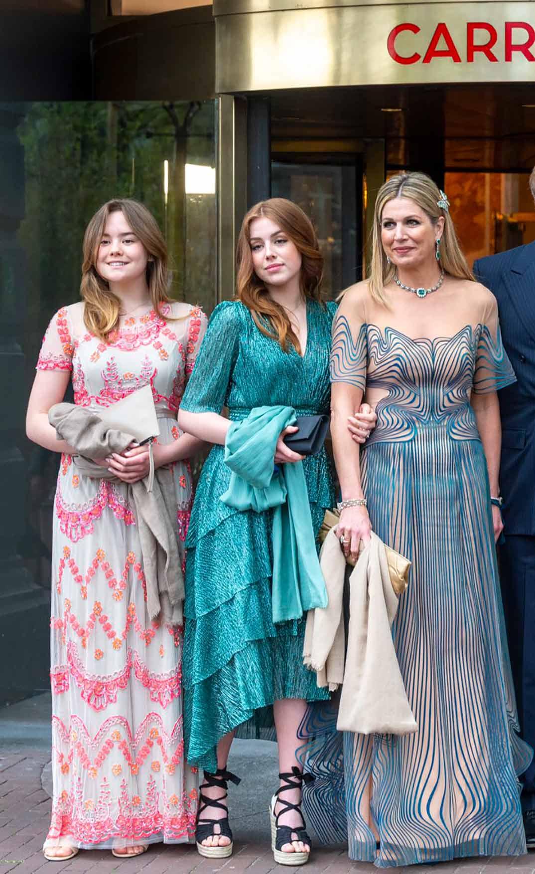 Máxima de Holanda con sus hijas, la princesa Ariadne y Alexia © koninklijkhuis/Instagram