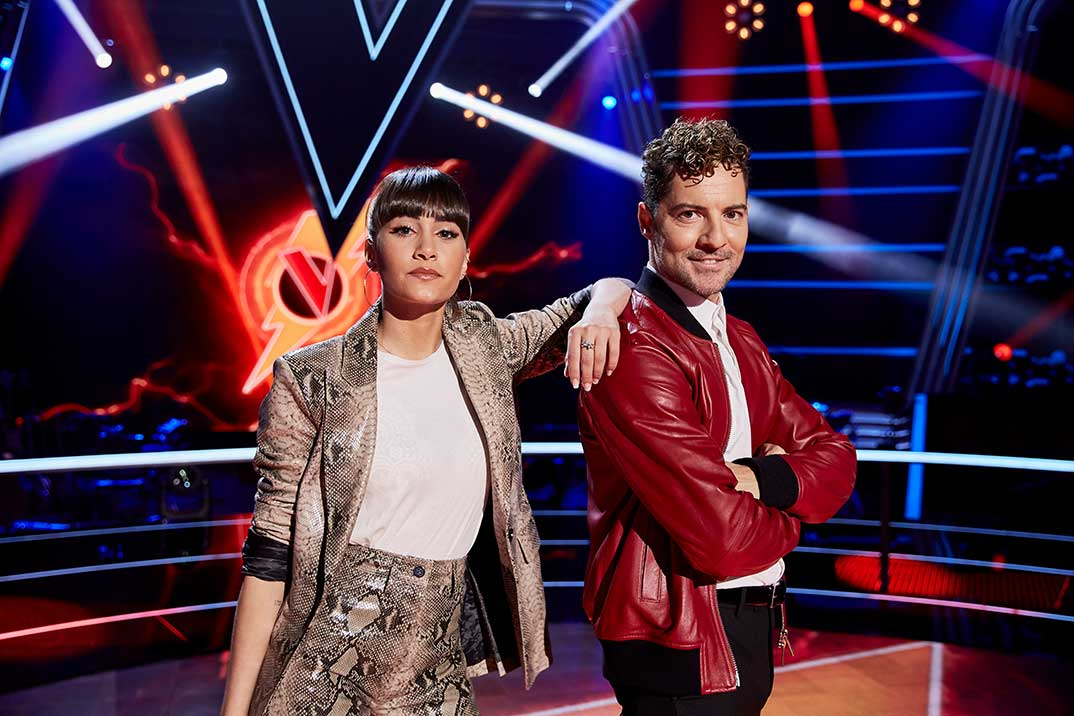 Aitana y David Bisbal - La Voz Kids © Antena 3