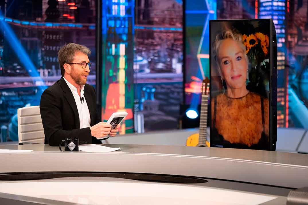 Sharon Stone y Pablo Motos - El Hormiguero © Antena 3