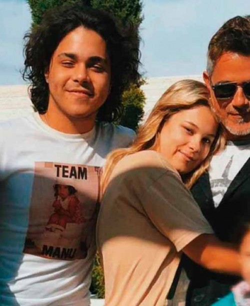 La preciosa foto de Alejandro Sanz con sus hijos
