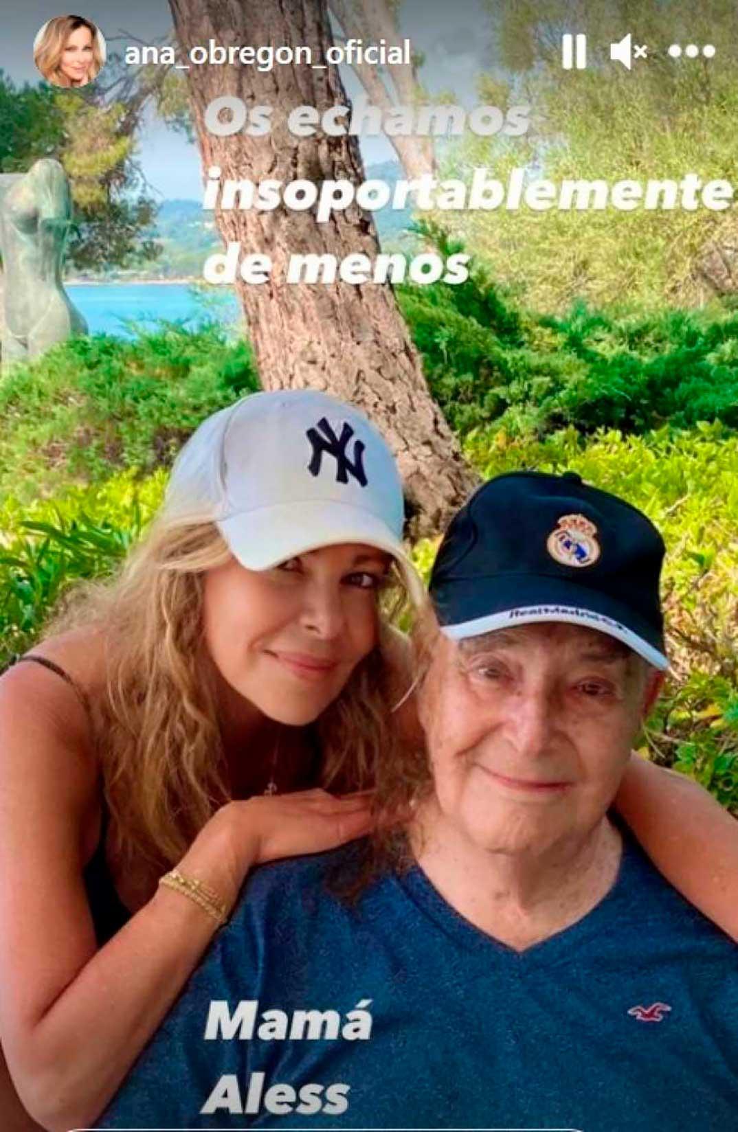 Ana Obregón con su padre © Instagram