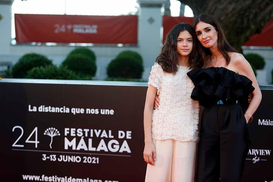 Paz Vega y su hija Ava Salazar - Festival Málaga 2021 © Alex Zea