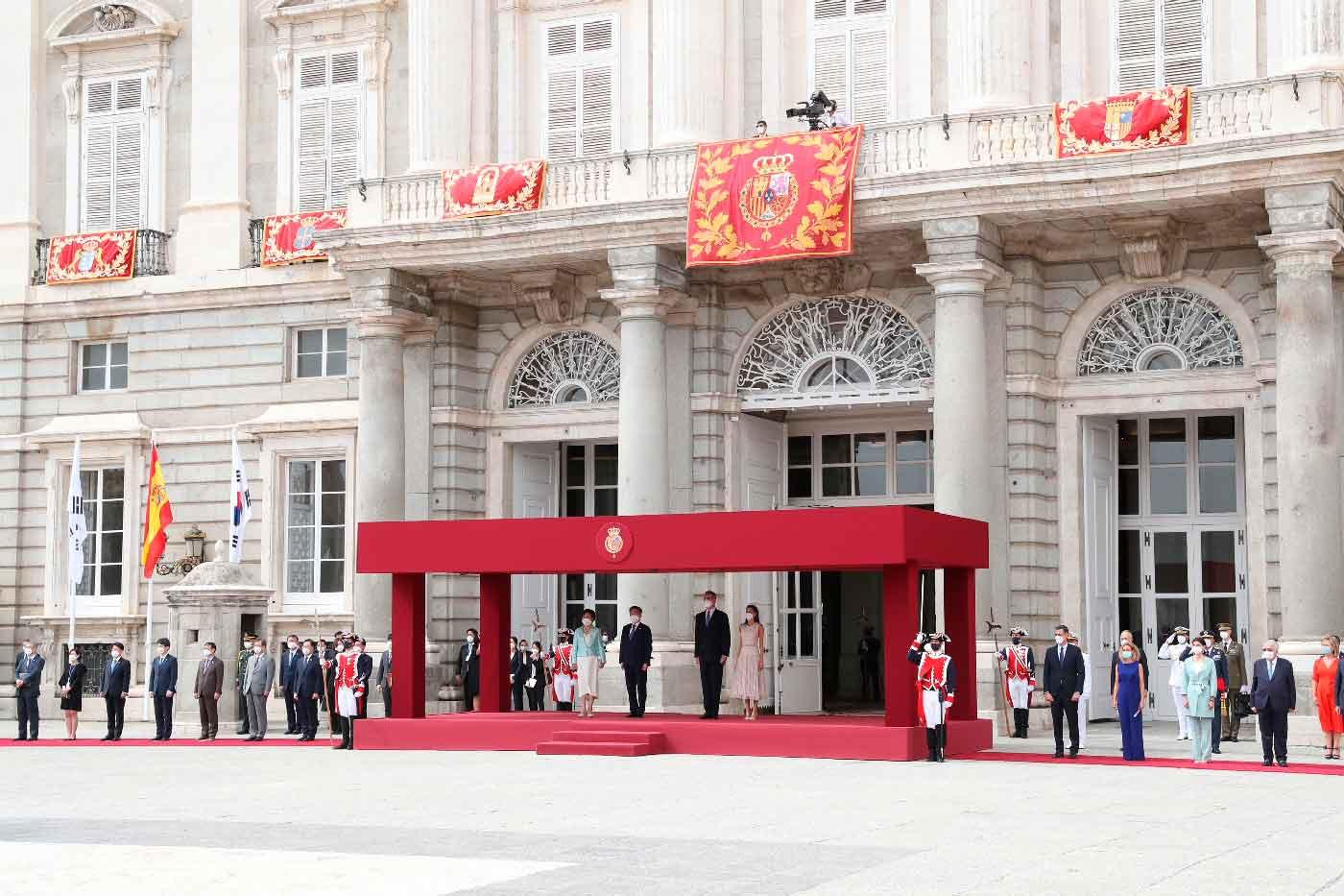 Reyes Felipe y Letizia - Visita Presidente de la República de Corea y su esposa © Casa S.M. El Rey
