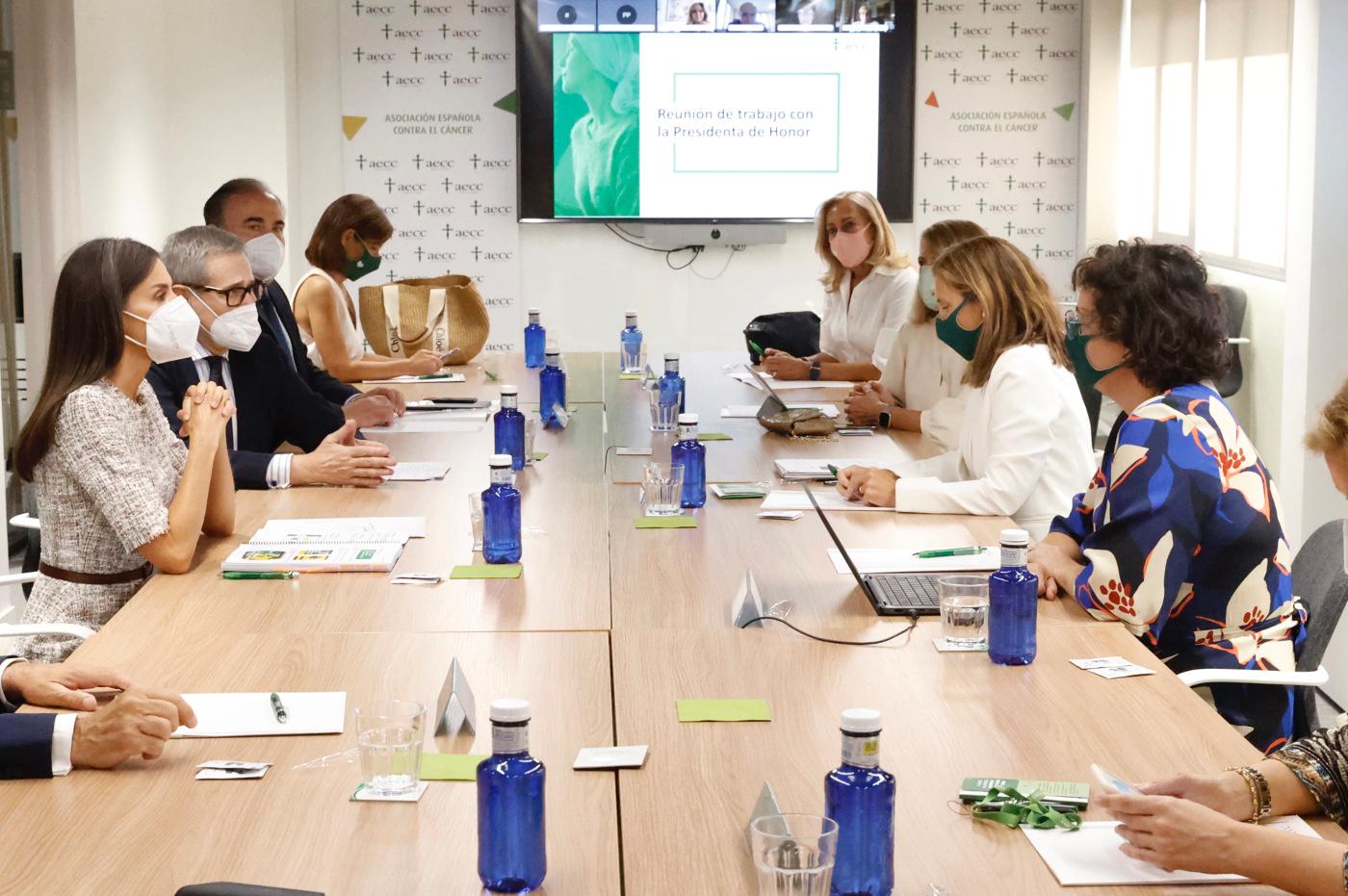 Reina Letizia - Reunió AECC © Casa S.M. El Rey