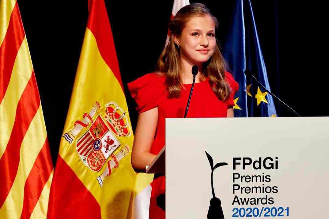 Leonor vuelve a brillar en los Premios Princesa de Girona