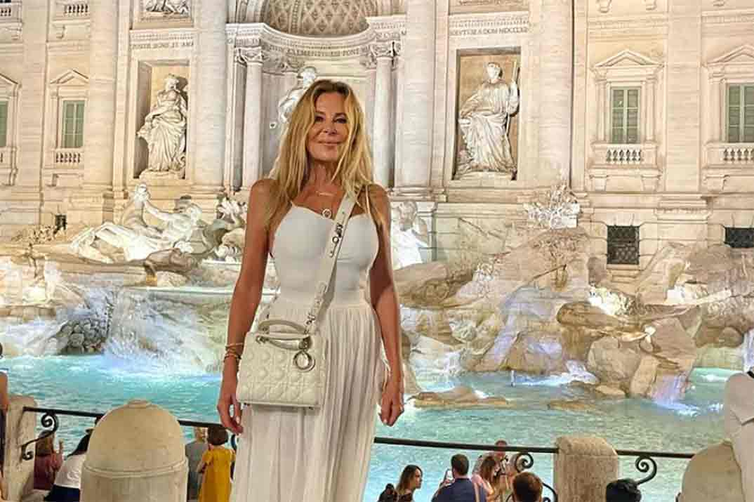 Ana Obregón visita el lugar favorito de su hijo Alex en Roma