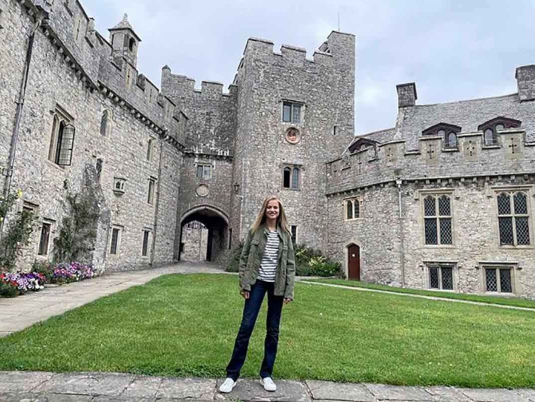 La princesa Leonor en Gales © Casa S.M. El Rey