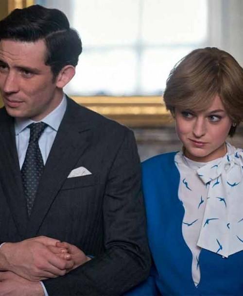 'The Crown' T5: Las primeras imágenes de la nueva lady Diana y el príncipe Carlos