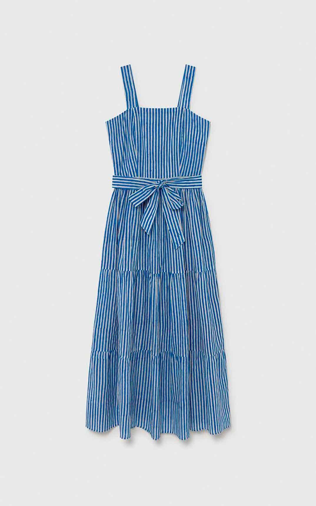 Vestido largo de rayas, de María de la Orden (150€)