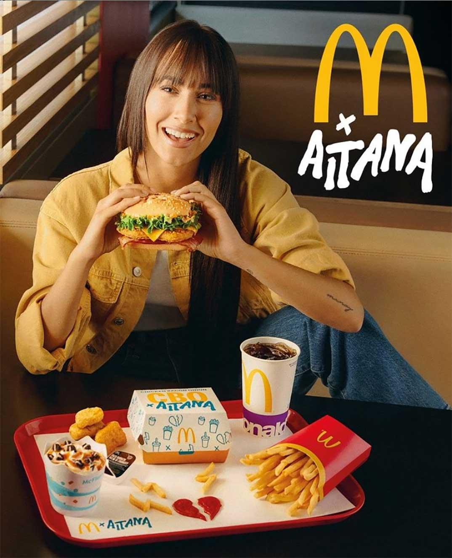 Aitana - McDonald's © Instagram