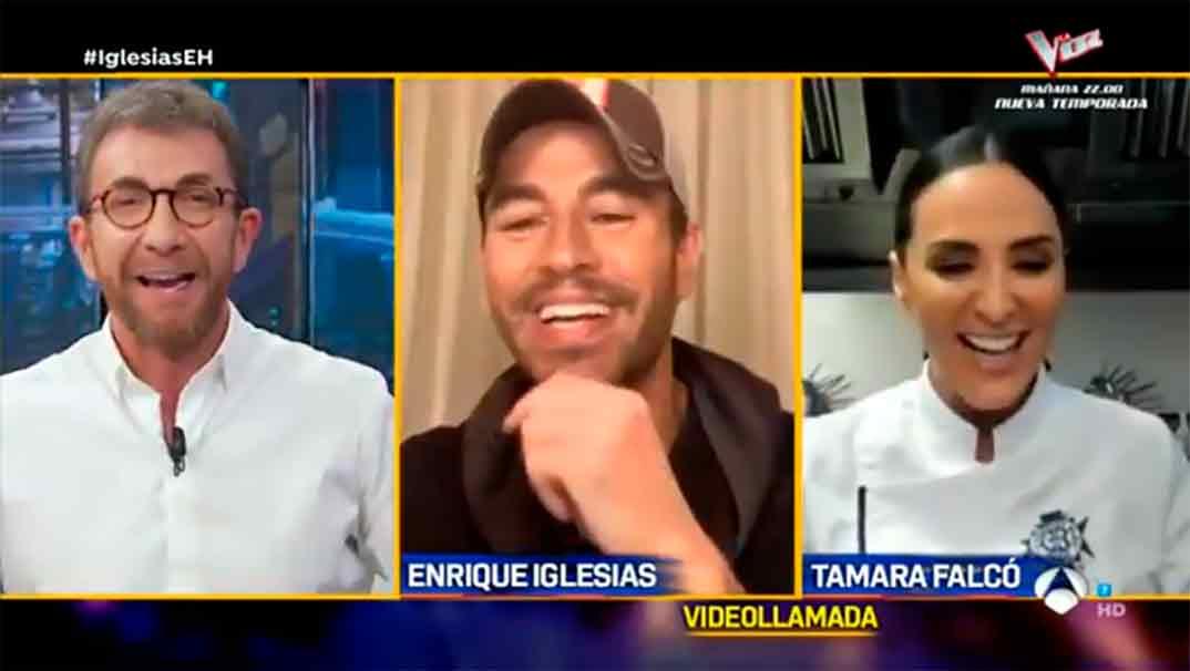Enrique Iglesias y Tamara Falcó con Pablo Motos - El Hormiguero © Antena 3