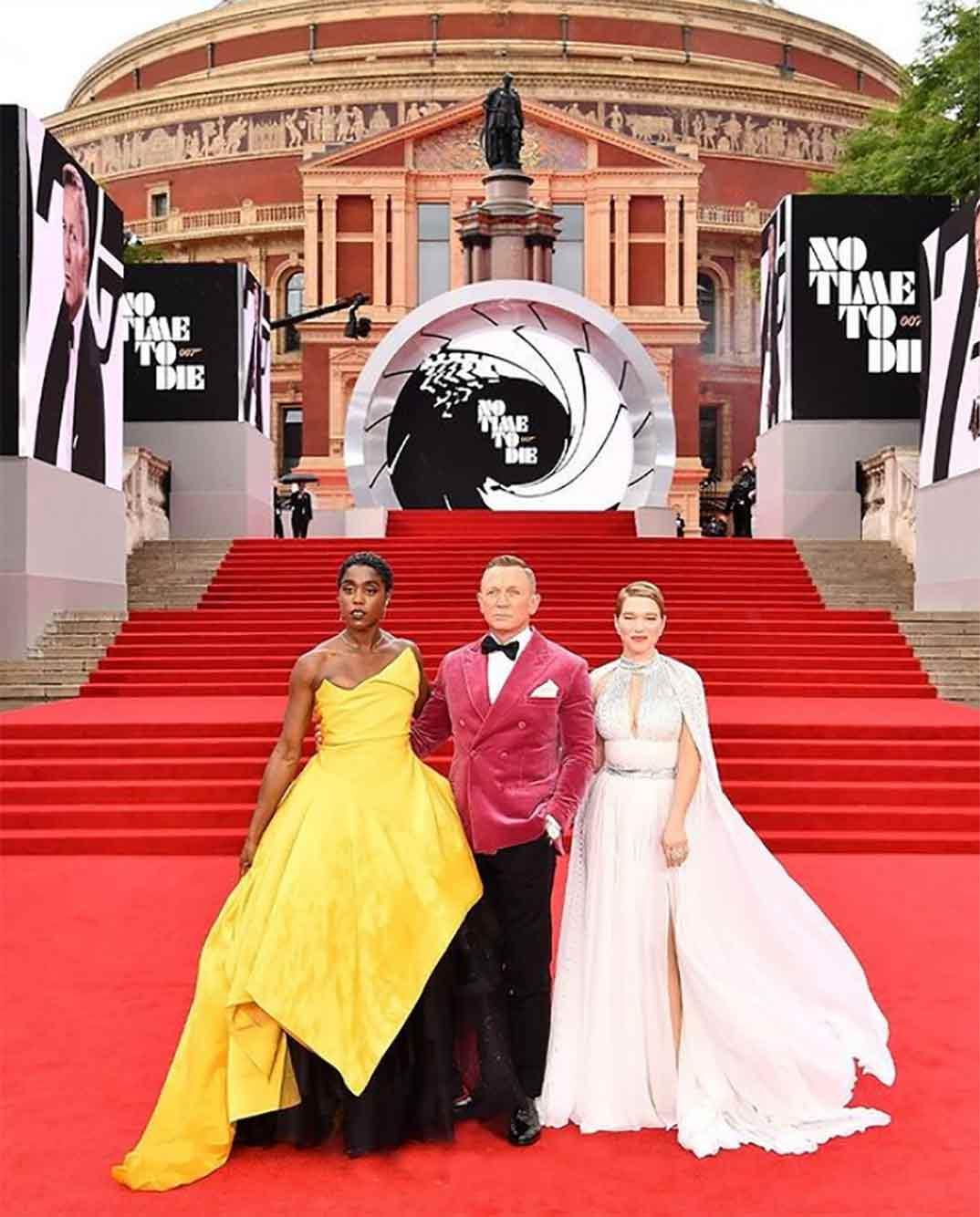 Lashana Lynch, Daniel Craig y Léa Seydoux - James Bond Sin tiempo para morir © Instagram