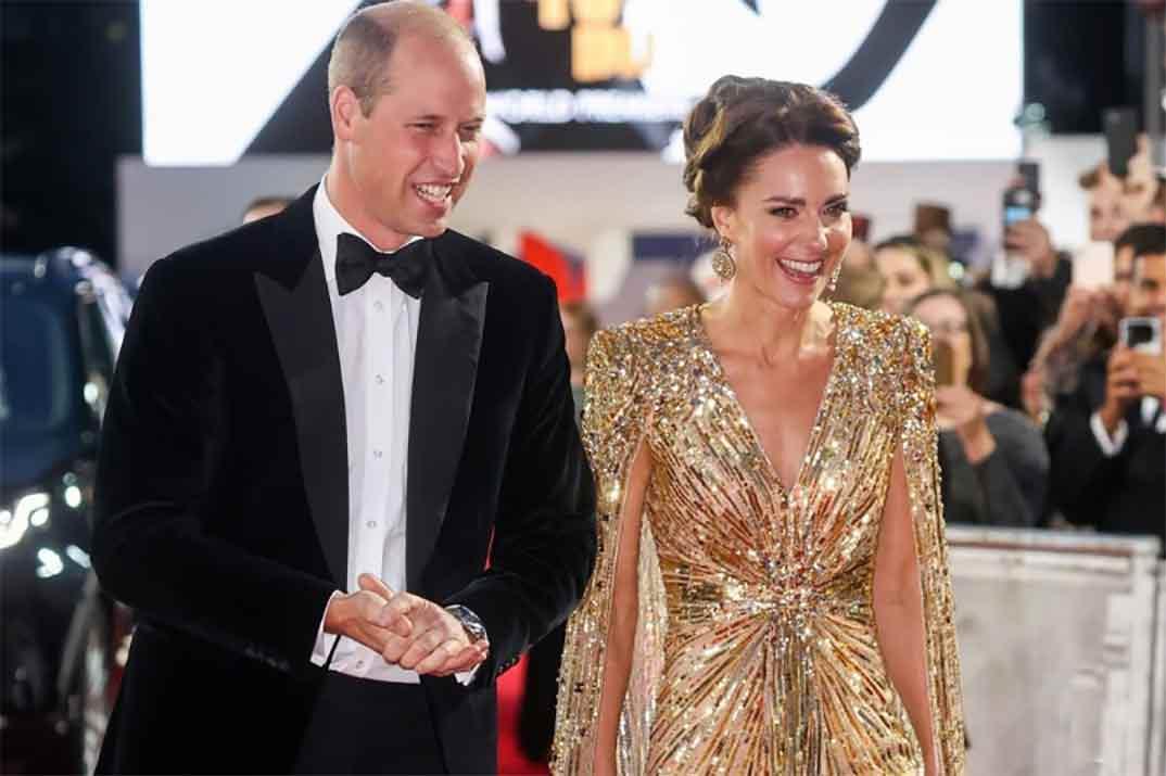 Kate Middleton, al servicio de James Bond, con un vestido de estrella de Hollywood