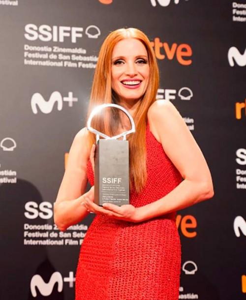 Jessica Chastain brilla con luz propia en San Sebastián
