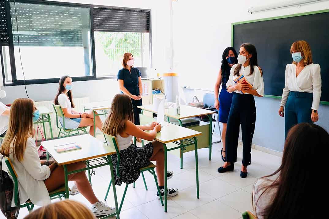 Reina Letizia - Apertura del Curso Escolar 2021/2022 © Casa S.M. El Rey