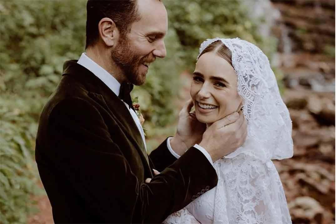 Así ha sido la romántica boda de Lily Collins y Charlie McDowell
