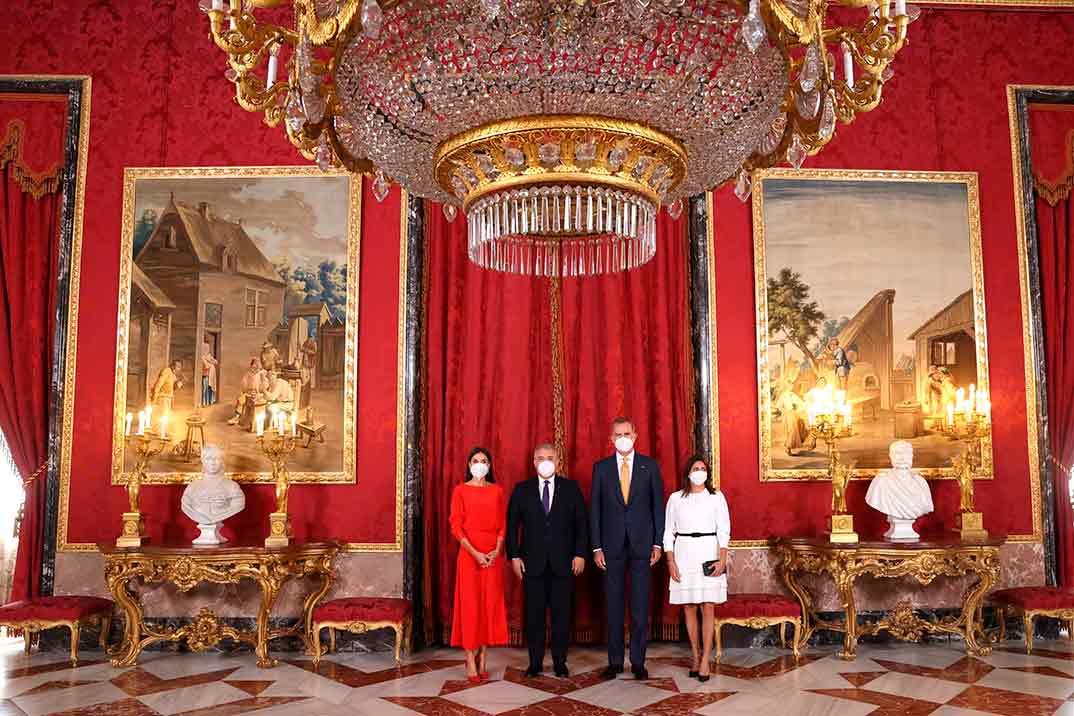 Reyes Felipe y Letizia - Almuerzo en Honor al Presidente de Colombia y su esposa © Casa S.M. El Rey