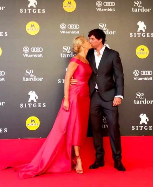 Belén Rueda presume de novio sobre la alfombra roja de Sitges