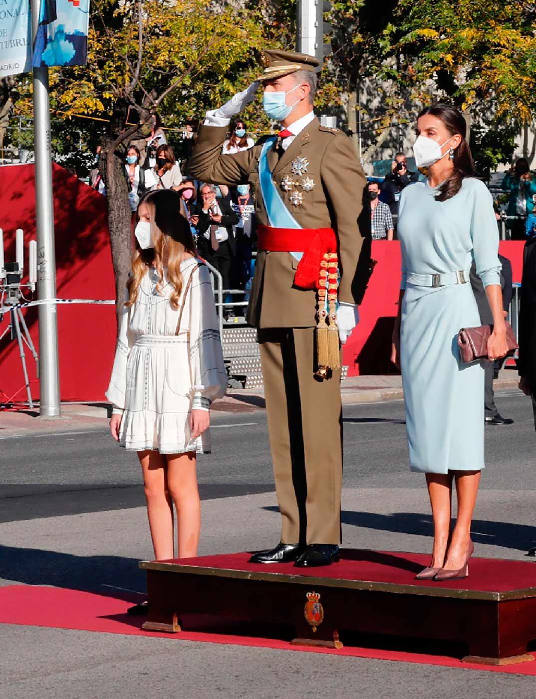 Reyes Felipe y Letizia con la infanta Sofía - Día de la Hispanidad © Casa Real S.M. El Rey