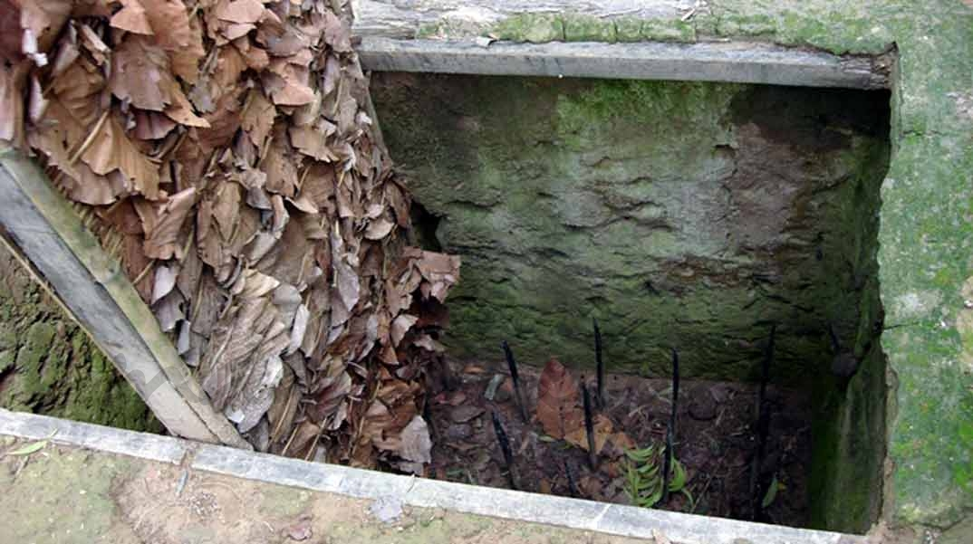 Trampa en túneles Cu Chi - Vietnam