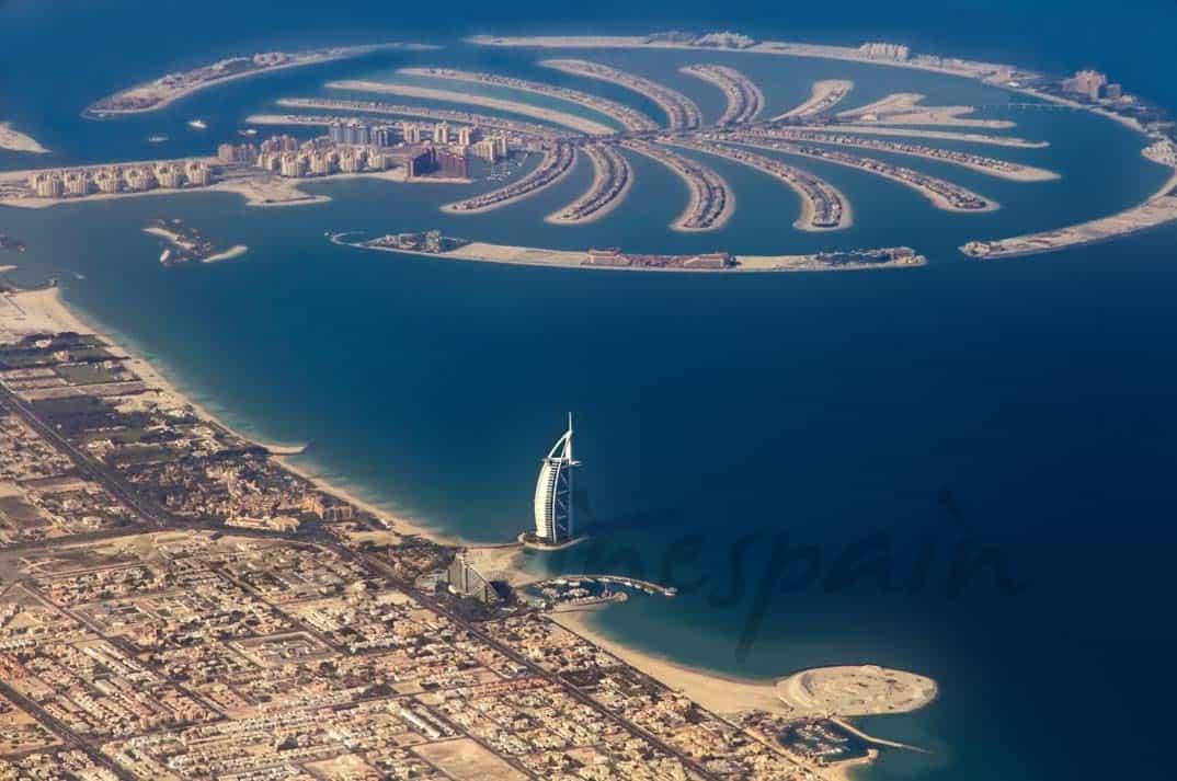 Palmera Jumeirah desde el aire